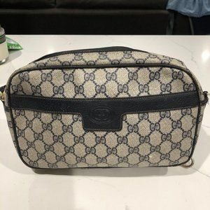 1980s Vintage Gucci Accessory Collection Gray Blue